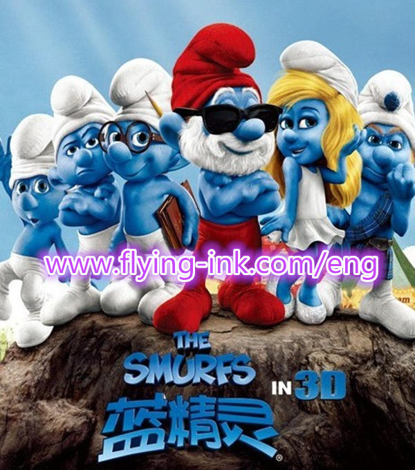Smurfs banner printing use sublimation offset ink