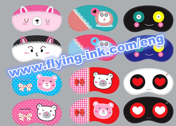 Sublimation ink for eye mask