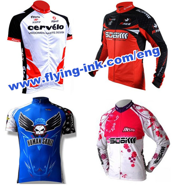 Thermal transfer printing dye sublimation ink for cycling jerseys